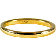 Smart 10kt Yellow Gold Wedding Band