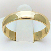 10k Yellow Gold, 4.5mm Gents Wedding band