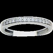 10k White Gold Diamond Wedding Band