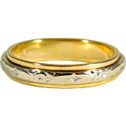 Gents Two Tone 14kt Gold Wedding/Anniversary Band