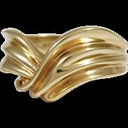 """Ladies 14 Karat Yellow Gold """"V"""" Design Ring"""