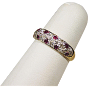 Ladies or Young Girls Ruby & Diamond Ring