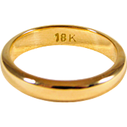 18kt Yellow Gold Wedding Band
