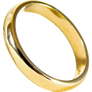 Gents Dapper 14kt Yellow Gold Wedding Band