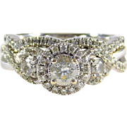 Dazzling Diamond Engagement Ring/ Wedding Ring Set