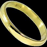 Classic 2.5mm 18k Gold Wedding Band