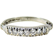 Vintage Platinum and Diamond Wedding Band