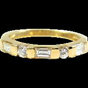 14k Gold and Diamond Wedding/Anniversary Band Set