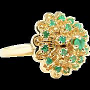 Vintage Ladies' Emerald Dome Ring