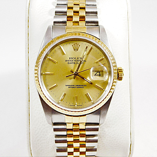 18k Gold and Stainless Men's 2-Tone Oyster Perpetual DateJust