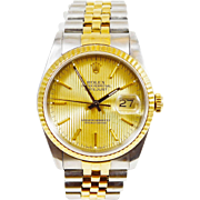 Men's 18k Gold and Stainless 2-Tone Oyster Perpetual DateJust with Original Box