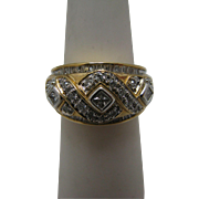 Stunning Multi-Diamond Ring in 10k Yellow Gold