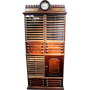 Late 1800's American Antique Spool Cabinet
