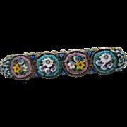 Lovely Vintage Italian Micro Mosaic Brooch in Pastels