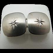 Square Diamond Cuff Links in 14k White Gold