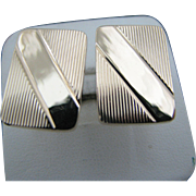 Vintage 14k Yellow Rectangle Gold Cuff Links