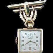 Landau Vintage Lapel Watch on a Watch Pin - Gold Filled