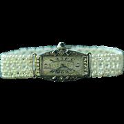 Seed Pearl, Sapphire & Diamond Watch