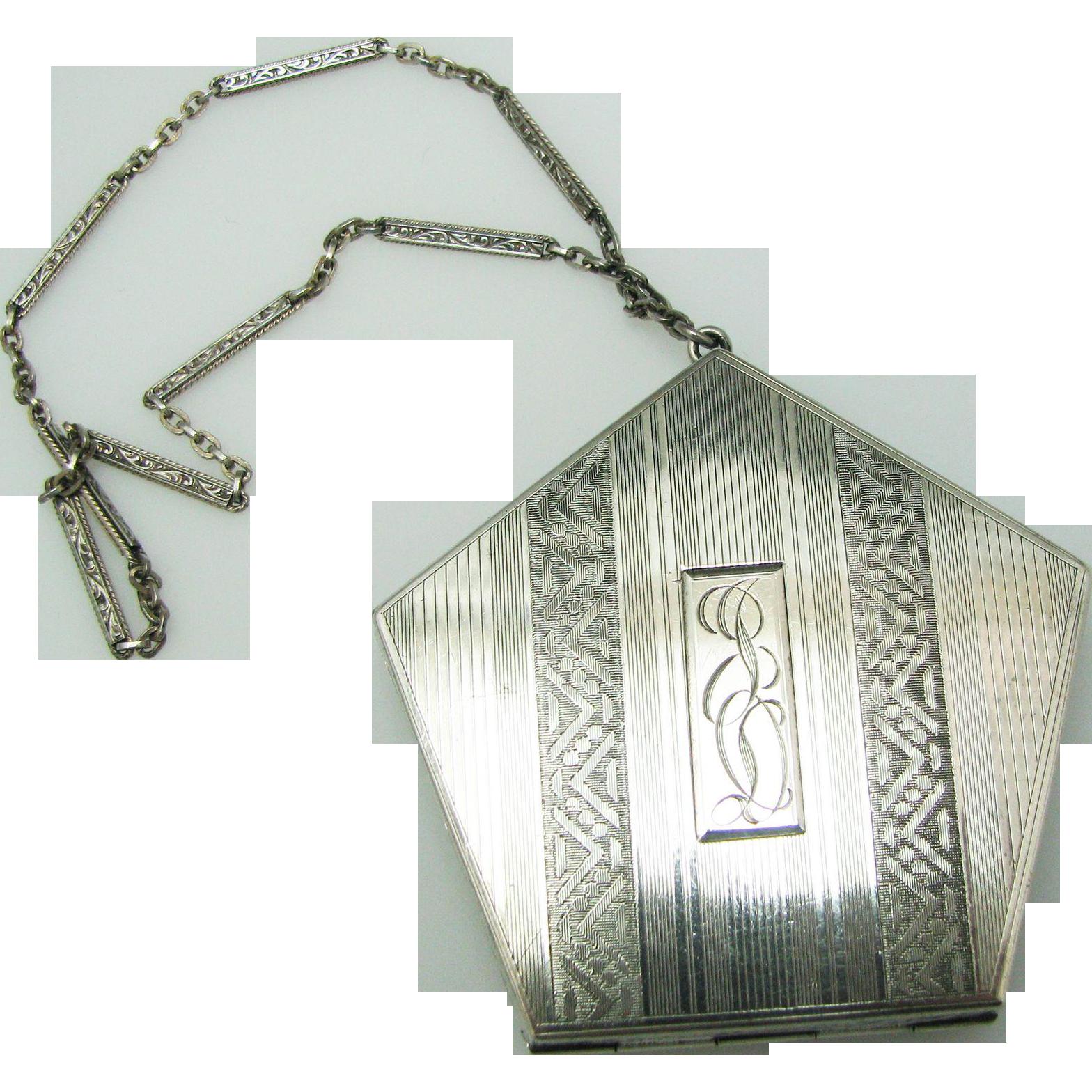 Vintage Silver Compact 118