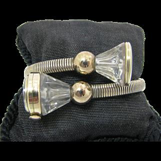 Unique Elegant Vintage Women's Croton Wrap Bracelet Watch with Locket