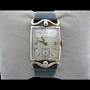 Nice Vintage 1951 Mechanical Bulova Watch with Leather Band