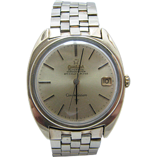 Nice vintage Late 1960's Omega Chronometer Constellation Watch with Date