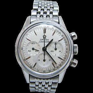 Nice 1965 Omega Seamaster Watch With Bracelet Band & Omega Logo on Buckle