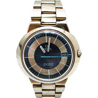 Vintage Late 60's or 1970's Omega Automatic Geneve Dynamic Watch in Gold Tone