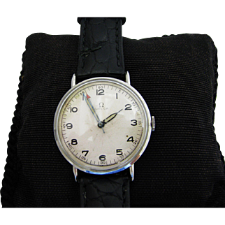 Very Nice Vintage Men's Omega Watch in Stainless Steel 1940's