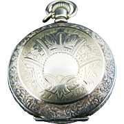 Nice Antique Hampden Pocket Watch in Double Hunter Case