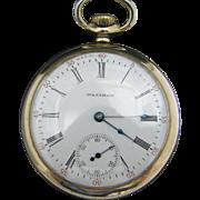 Vintage 1906 Waltham Pocket Watch Gold Filled