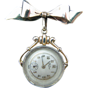 Wyco Vintage Lapel Watch and Bow Pin - Gold Filled