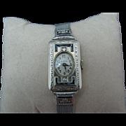 Vintage Ladies Sapphire & Diamond watch