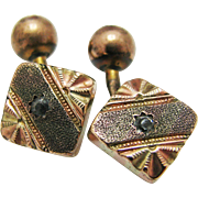 Vintage Handsome Cuff links in Tri Color Gold Tone Finish