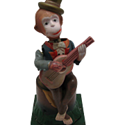 Fun Vintage Banjo Playing Wind UP Monkey