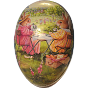 Vintage Large Paper Mache Easter Egg Container