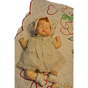 """Cuddly 1960s Vogue 12"""" Baby Dear Once A Musical Doll"""