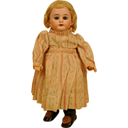 """Pretty 11"""" A.M. Bisque with French compo jointed body, wardrobe and cradle - Red Tag Sale Item"""