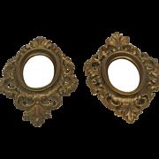 Two Pretty Doll Wall Mirrors 5x7 Vintage