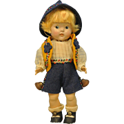 1949 Near Mint Painted Eye Tyrolean Toddler Twin-All Original