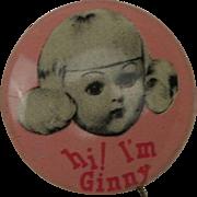 Rare 1950's Mint Ginny Pin