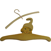 Vintage Hand Painted Cute Wooden Doll Hangers