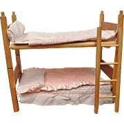 Vintage Strombecker Wood Bunk Beds for Ginny, Muffie and Friends