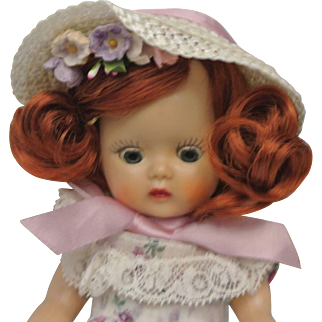 """Pristine 1953 Muffie """"Perfection"""" Rare Fiery Red Hair"""