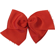 Early Vintage Ginny Big Red Hair Bow