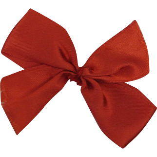 Early Vintage Ginny Red Hair Bow
