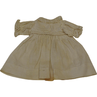 Pretty Off White Dress for Antique Doll