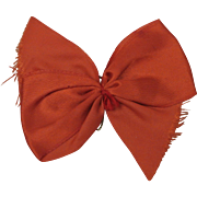 Vogue Vintage Red Early 1950's Ginny Big Original Hair Bow with PIn