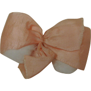 Early Vintage Ginny Big Pink Hair Bow & Barrette