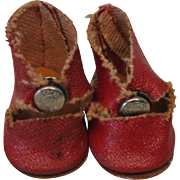 Red Vintage Ginny or Muffie Center Snap Shoes